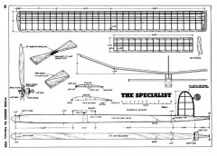 Specialist model airplane plan