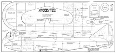 Speedster model airplane plan