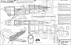Speedster Falcon model airplane plan