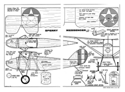 Sperry Messenger model airplane plan