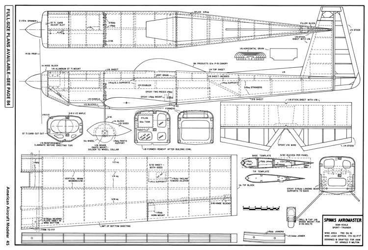 Spinks Akromaster-AAM-06-74 model airplane plan