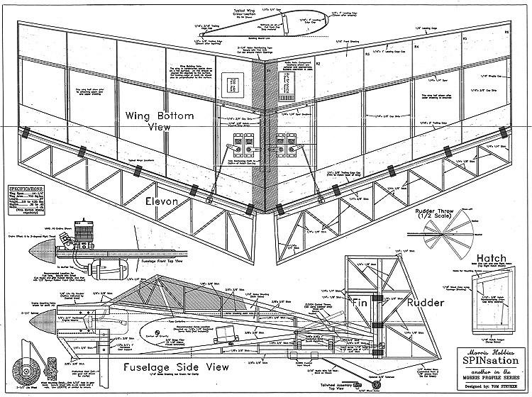 Spinsation model airplane plan