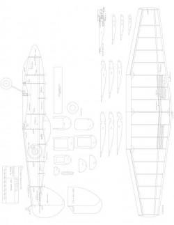 Spit Model 1 model airplane plan