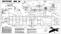 Spitfire 14 model airplane plan