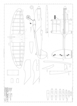 Spitfire 15 Daeuble model airplane plan