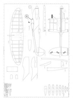 Spitfire 15 Daeuble model airplane plan
