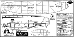 Spitfire 22in Joe Ott model airplane plan
