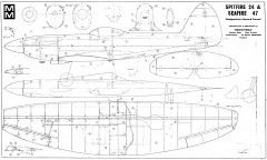 Spitfire 24 model airplane plan