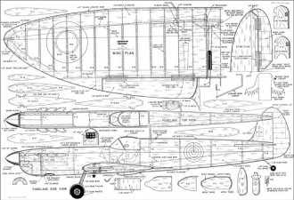 Spitfire CL Mackey model airplane plan