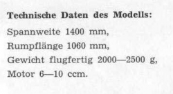 Spitfire IIA - Daten model airplane plan