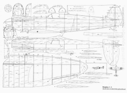Spitfire IIA p1 model airplane plan
