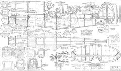 Spitfire IX model airplane plan