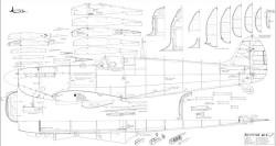Spitfire Mk-I White 72in model airplane plan