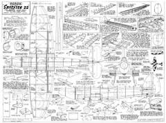 Spitfire Mk22 model airplane plan