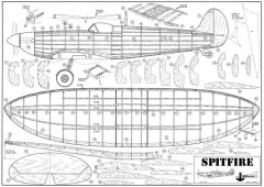 Spitfire Modelhob rubber model airplane plan