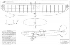 Spitfire Profile CL stunt model airplane plan