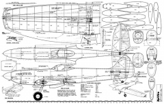 Spitfire Mark XVI model airplane plan