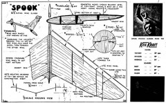 Spook model airplane plan