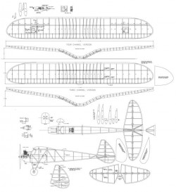Spook 72in model airplane plan