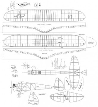 Spook 72in model airplane plan