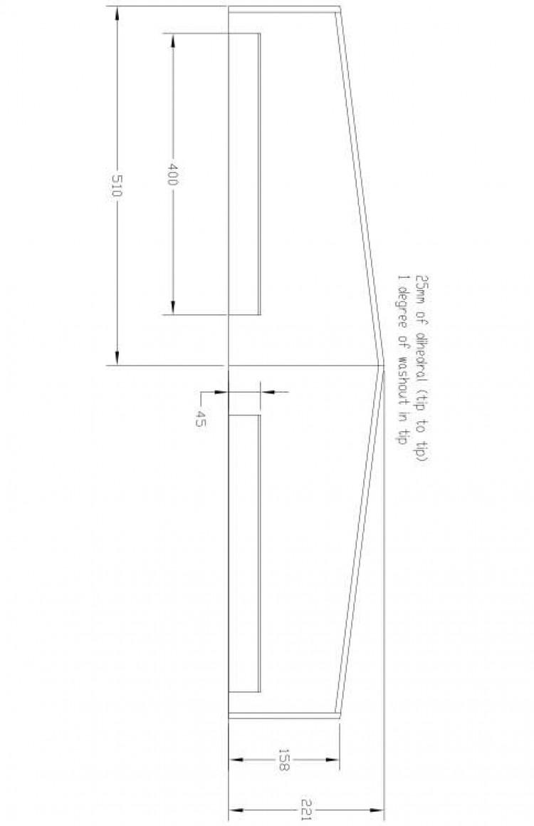 Sport Model 600- wing Model 1 model airplane plan