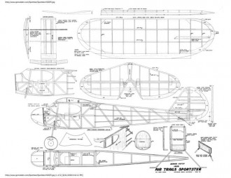 Sportster 2 model airplane plan