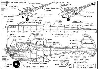 Sporty II plans model airplane plan