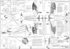 Hall Bulldog model airplane plan
