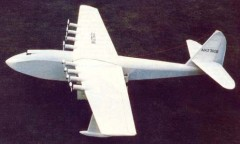 Spruce Goose model airplane plan