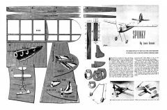 Spunky model airplane plan