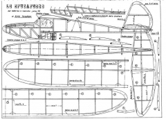 Sputafuoco model airplane plan