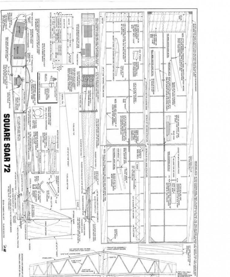 SquareSoar72 model airplane plan