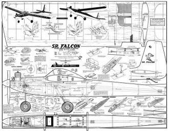 Sr Falcon 69in model airplane plan