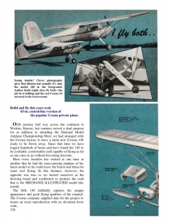 Stahl Cessna 140 model airplane plan