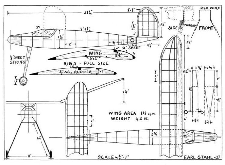 Stahl37 model airplane plan