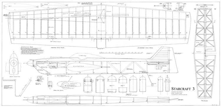 Starcraft model airplane plan