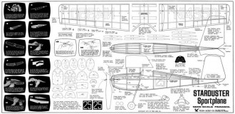 Starduster model airplane plan