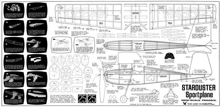 Starduster model airplane plan