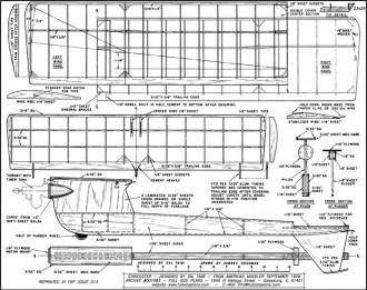 Starduster Taibi model airplane plan