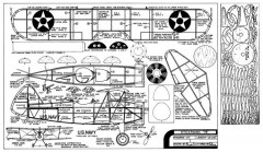 Stearman 76 model airplane plan