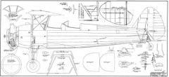 Stearman Barron model airplane plan