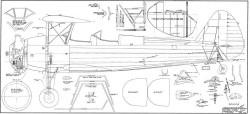 Stearman Barron model airplane plan