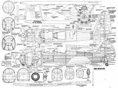 Stearman Kaydet 400dpi model airplane plan
