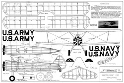 Stearman PT-17 23in model airplane plan