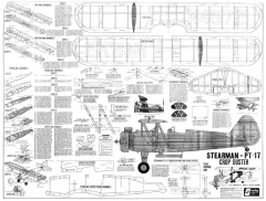 Stearman PT-17 Sterling CL 32in model airplane plan