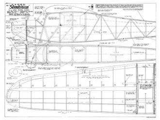 Stentorian 72in model airplane plan