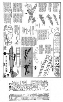 Sterling Interstate Cadet model airplane plan