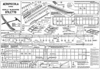 Stiletto Aeropiccola model airplane plan