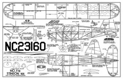 Stinson 106 model airplane plan