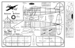 Stinson Reliant 2 model airplane plan